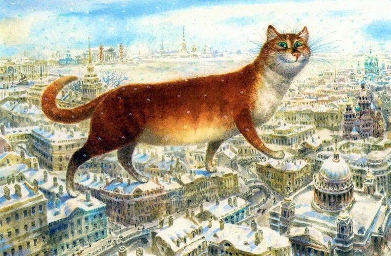 Умер автор серии картин «Петербургские коты» Владимир Румянцев