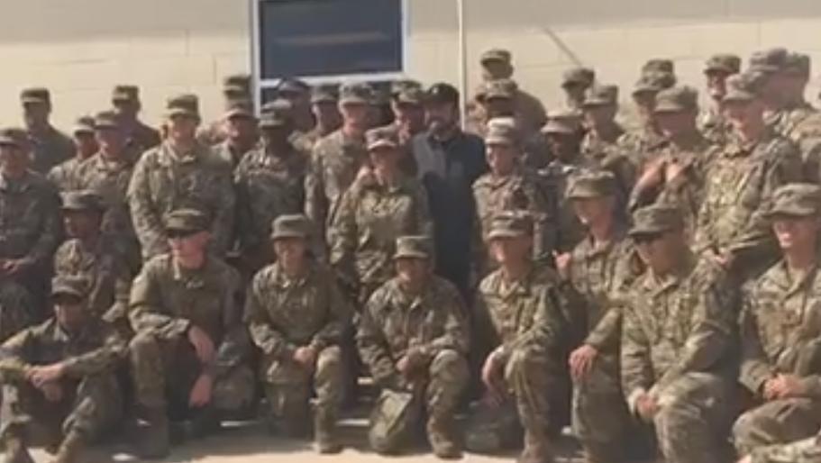 Военную базу вСША посетил Чак Норрис