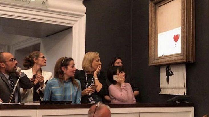 Коллекционер порезал картину Бэнкси для увеличения еестоимости