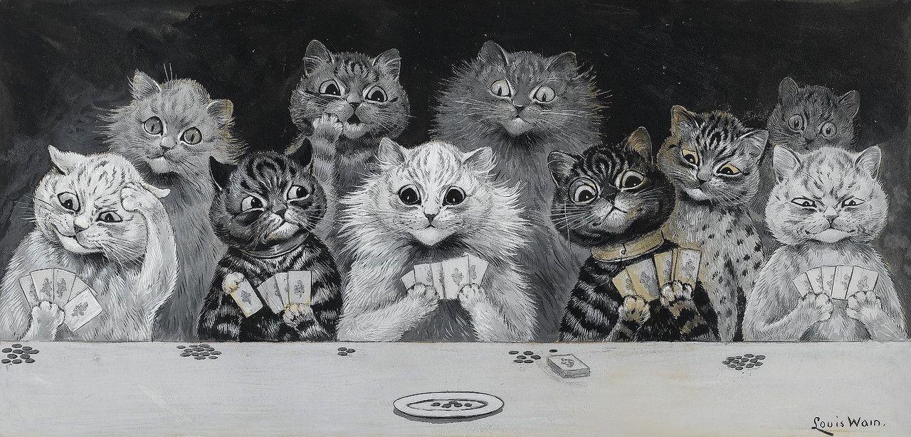 Знаменитый «кошачий художник» Луис Уэйн