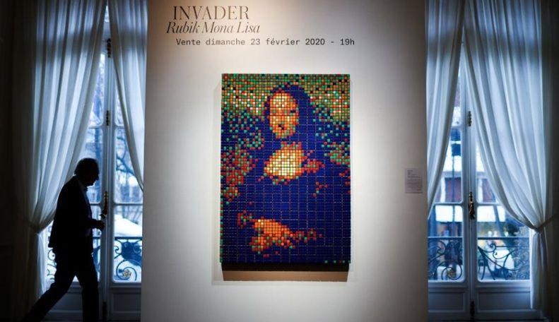 «Мону Лизу» из кубиков Рубика продали на аукционе в Париже почти за €500 тыс